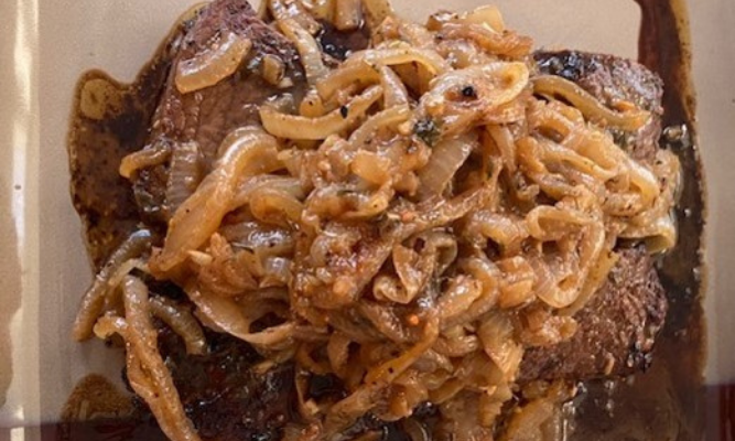 Steak with Carmelized Onions?